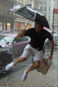 man_raining
